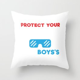 Science Boy Protect Your Eyes This Boys About to Do Science Throw Pillow