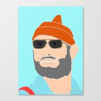 the life aquatic Canvas Prints featuring life aquatic  by Chad spann