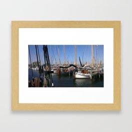 Beetween the seas of the netherlands Framed Art Print