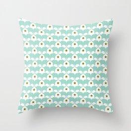 Blue Elephants Throw Pillow