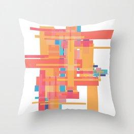Sherbet Scaffold  Throw Pillow