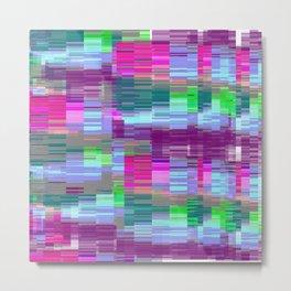 Pastel Glitch Metal Print