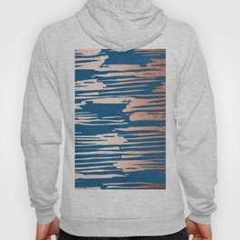 Tiger Paint Stripes - Sweet Peach Shimmer on Saltwater Taffy Teal Hoody