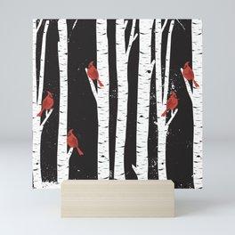 Northern Cardinal Birds Mini Art Print