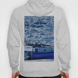 Boat in Frozen land Hoody