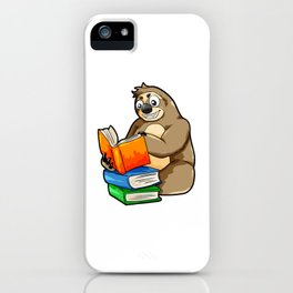 Reading Sloth Literacy Book Knowledge Exam Study iPhone Case
