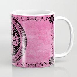 Mandala Indian Elephant Pink Spiritual Zen Bohemian Hippie Yoga Mantra Meditation Coffee Mug
