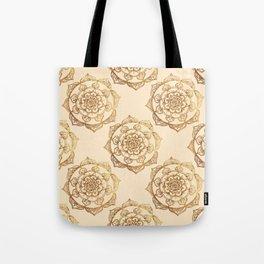 Golden Mandalas on Cream Tote Bag