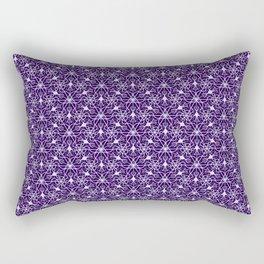 Feminine Energy Deep Purple and Lavender Lines Female Spirit Organic Rectangular Pillow