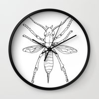 insect Wall Clocks featuring Insect by Martin Stolpe Margenberg