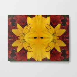 """A Gathering of Lilies"" Remix - 2 (3-1) [D4466~24] Metal Print"