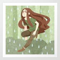robin hood Art Prints featuring Robin Hood by Nano Rain