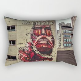 New York City, Manhattan, wall mural Attack On Titan, graffiti (2019-GNY12) Rectangular Pillow