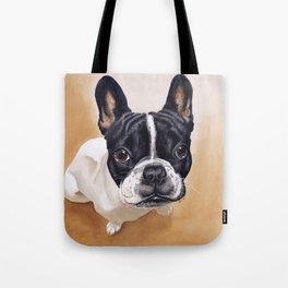 French Bulldog Gouache Artwork Tote Bag