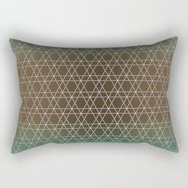 Green Oriental Shades and Colors, Gradient. Rectangular Pillow