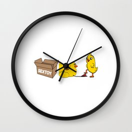 """A Naughty Tee For A Naughty You Saying """"Sex Toy"""" T-shirt Design Chick Chicken Orgasm Orgy Sex Fuck Wall Clock"""
