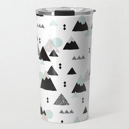 Geometric Fuji mountain japan travel pattern Travel Mug