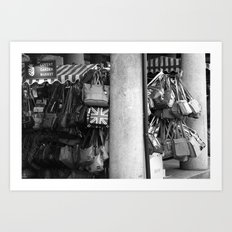 Bag Stall, Covent Garden Market, London Art Print
