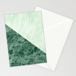 SHADES OF MINT MARBLE ABSTRACT Stationery Cards