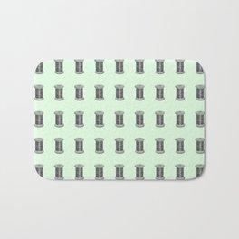 Vintage Sewing Thread Machine Needle Pattern Bath Mat