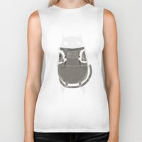 cats Biker Tanks featuring space cat by Louis Roskosch