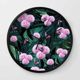 Tropical Peonies Dream #1 #floral #foliage #decor #art #society6 Wall Clock