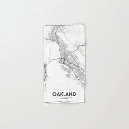 Minimal City Maps - Map Of Oakland, California, United States Hand & Bath Towel