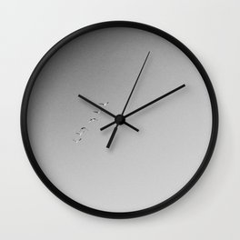 HALF MOON BAY V (B+W) Wall Clock