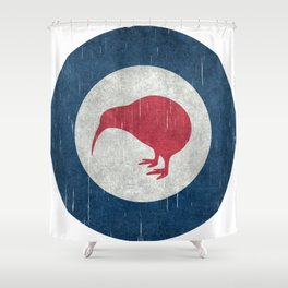 "New Zealand ""Kiwi"" Roundel Shower Curtain"