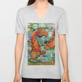 Koi Pair Unisex V-Neck