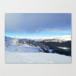 The views behind the blue rope Canvas Print