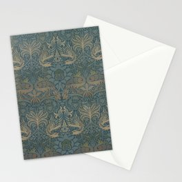 William Morris - Printed Textile Pattern - Peacock and Dragon (1878) Stationery Cards