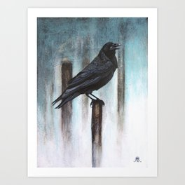 Calling (Raven) Art Print