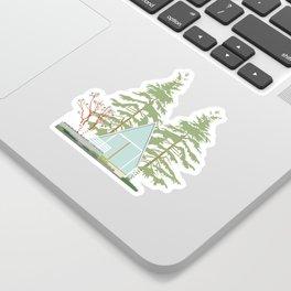 A (frame) Cozy Retreat Sticker