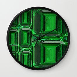 SPRING GREEN EMERALDS ART DECORATIVE  DESIGN Wall Clock