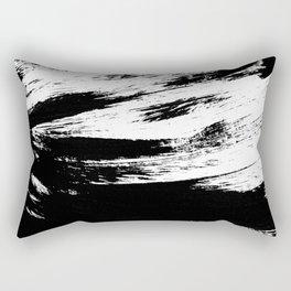 Brush : Abstract black ink design Rectangular Pillow