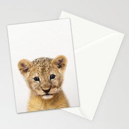 Baby Lion, Baby Animals Art Print By Synplus Stationery Cards