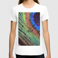 peacock feather T-shirts featuring peacock feather by Falko Follert Art-FF77