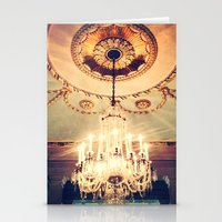 chandelier Stationery Cards featuring Chandelier by elle moss