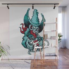 Gamer Skull - Puerto Rico console gamer hat skull Wall Mural