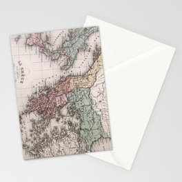 Vintage Map of Greece and Italy (1852) Stationery Cards