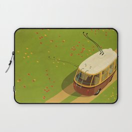 Trolley Rides The Field Laptop Sleeve