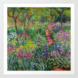 "Claude Monet ""The Iris Garden at Giverny"", 1899-1900 Art Print"