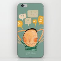 lucas david iPhone & iPod Skins featuring Lucas by Nacho Z. Huizar