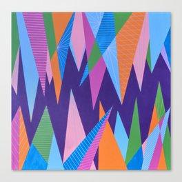 Crystal Stalagmites Canvas Print