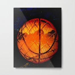 Basketball art swoosh vs 50 Metal Print