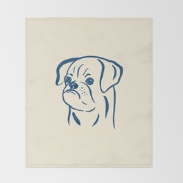 Petit Brabancon (Beige and Blue) Throw Blanket