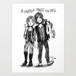 'A Match Made In Hell' Art Print