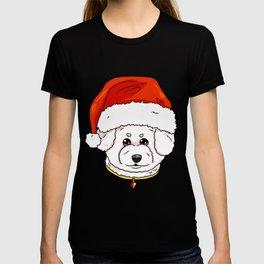 Bichon Frise Dog Christmas Hat Present T-shirt