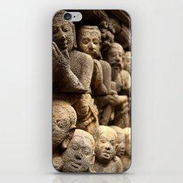 Stone carvings - Borobudur, Jogyakarta iPhone Skin
